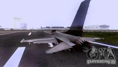 F-16 A для GTA San Andreas вид изнутри