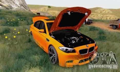 BMW F10 M5 2012 Stock для GTA San Andreas вид слева