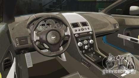 Aston Martin V12 Vantage S 2013 [Updated] для GTA 4 вид изнутри