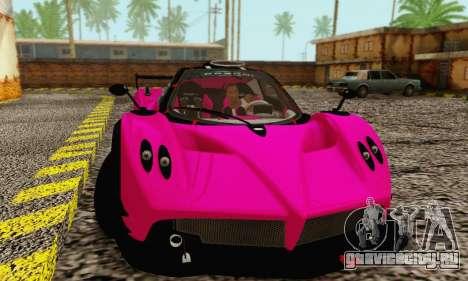 Pagani Zonda Type R Pink для GTA San Andreas вид слева