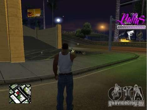 New HUD Ballas Style для GTA San Andreas