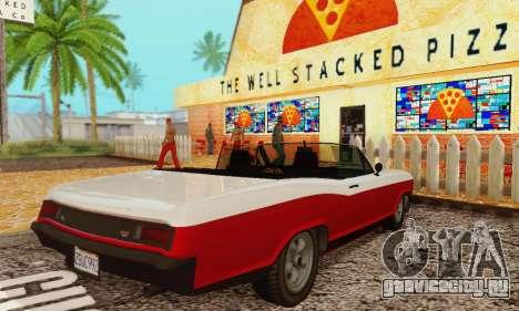Gta 5 Buccaneer обновленная для GTA San Andreas вид справа
