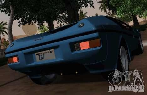 BMW M1 Turbo 1972 для GTA San Andreas вид изнутри