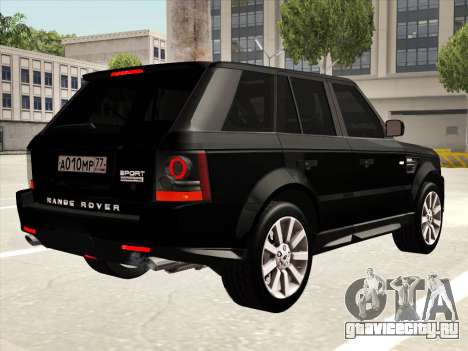 Range Rover Sport для GTA San Andreas вид сбоку