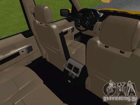 Range Rover Supercharged Series III для GTA San Andreas вид сверху