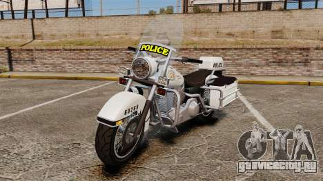 GTA V Western Motorcycle Police Bike для GTA 4