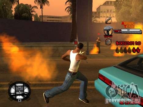 C-HUD Admins Team для GTA San Andreas десятый скриншот