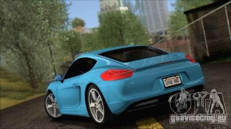 Porsche Cayman S 2014 для GTA San Andreas вид сзади слева
