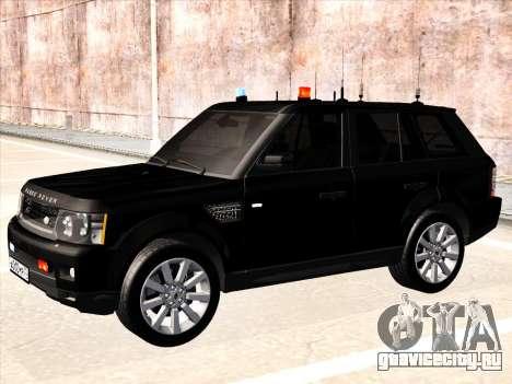 Range Rover Sport для GTA San Andreas вид сзади слева