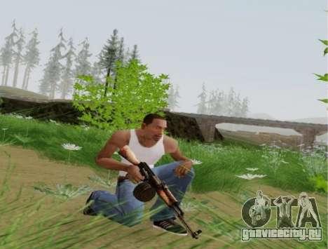 Ручной Пулемет Калашникова для GTA San Andreas четвёртый скриншот