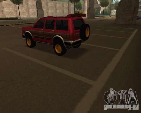 Landstalker V2 для GTA San Andreas вид сверху