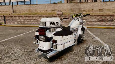 GTA V Western Motorcycle Police Bike для GTA 4 вид справа