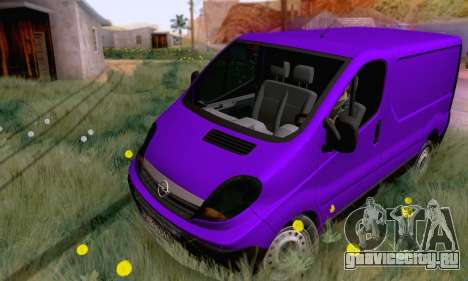 Opel Vivaro для GTA San Andreas вид слева