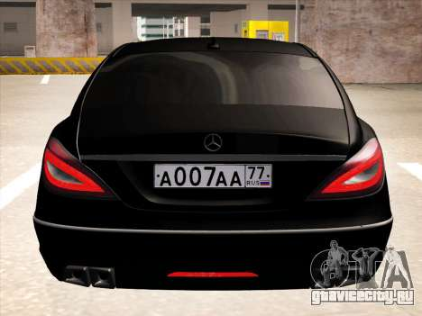 Mercedes-Benz CLS350 2012 для GTA San Andreas вид изнутри