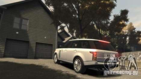 Range Rover Vogue 2014 для GTA 4 вид сверху