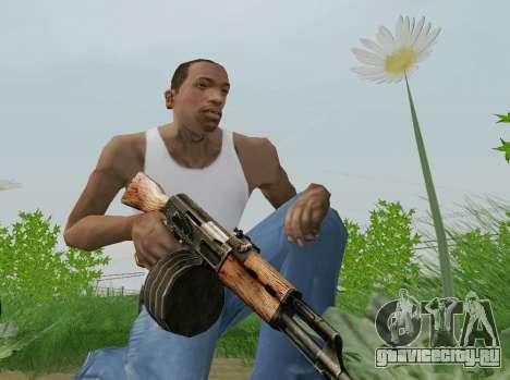 Ручной Пулемет Калашникова для GTA San Andreas пятый скриншот