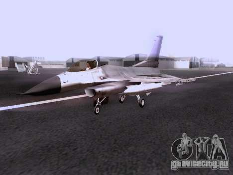 F-16 A для GTA San Andreas вид справа
