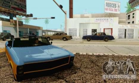 Gta 5 Buccaneer обновленная для GTA San Andreas вид сбоку