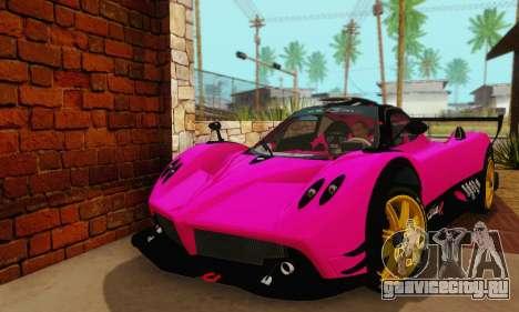 Pagani Zonda Type R Pink для GTA San Andreas вид справа