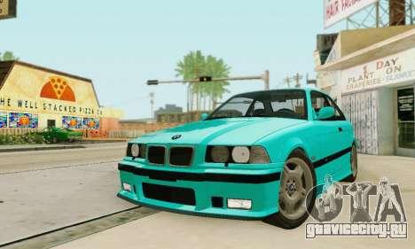 BMW E36 M3 1997 Stock для GTA San Andreas вид сбоку