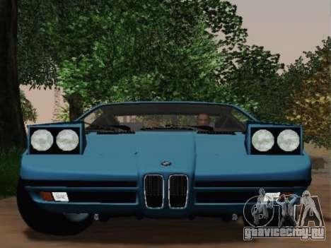 BMW M1 Turbo 1972 для GTA San Andreas вид справа