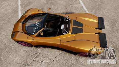 Pagani Zonda C12 S Roadster 2001 PJ2 для GTA 4 вид справа