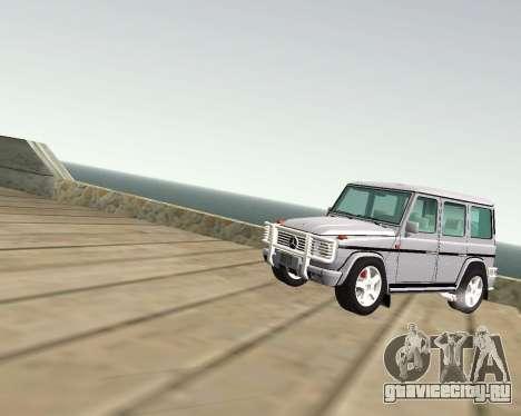 Mercedes-Benz G500 Brabus для GTA San Andreas вид изнутри