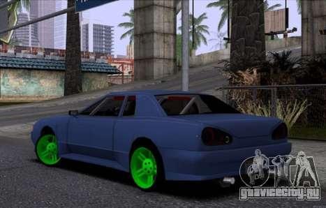 Новая Elegy для GTA San Andreas вид сзади слева