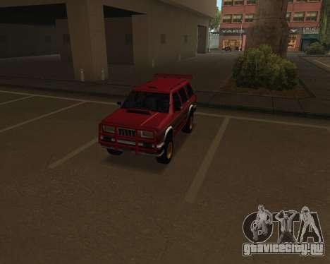Landstalker V2 для GTA San Andreas вид изнутри
