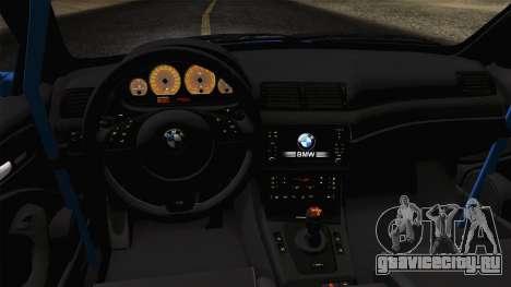 BMW M3 E46 GTR 2005 для GTA San Andreas вид справа