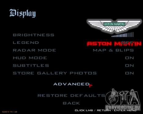 Новые изображения меню для GTA San Andreas четвёртый скриншот