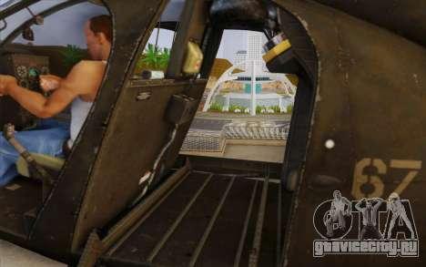 MH-6 Little Bird для GTA San Andreas вид сзади слева