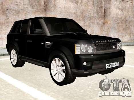 Range Rover Sport для GTA San Andreas вид изнутри