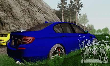 BMW F10 M5 2012 Stock для GTA San Andreas вид сверху
