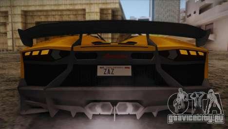 Lamborghini Aventandor J 2010 для GTA San Andreas двигатель