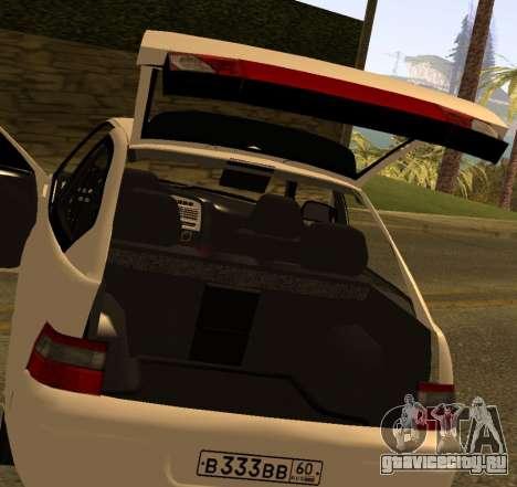ВАЗ 2112 GVR Version 1.1 для GTA San Andreas вид сзади