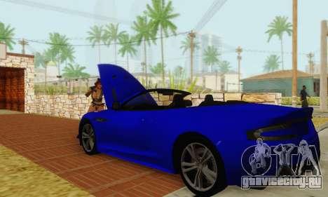 Aston Martin DBS Volante для GTA San Andreas вид сбоку