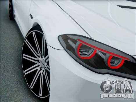 BMW 550 F10 VOSSEN для GTA San Andreas вид сзади
