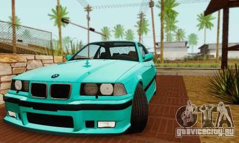 BMW E36 M3 1997 Stock для GTA San Andreas вид сзади