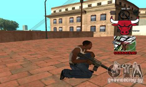 C-HUD Chicago Bulls для GTA San Andreas третий скриншот
