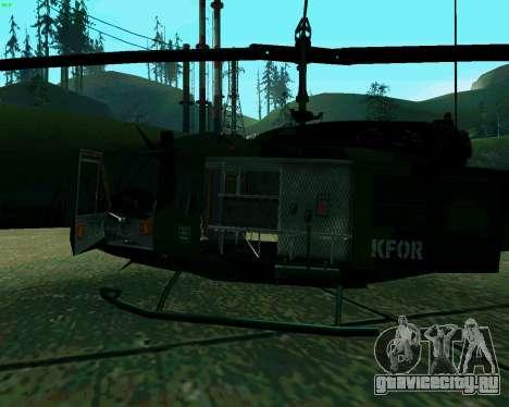UH-1D Huey для GTA San Andreas вид сзади