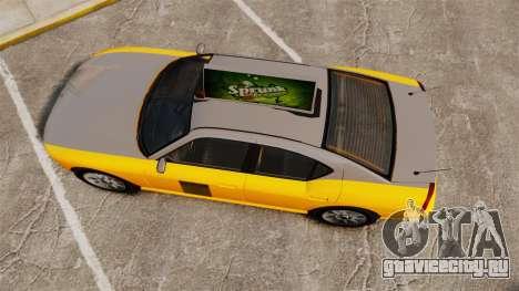 Bravado Buffalo Taxi для GTA 4 вид справа