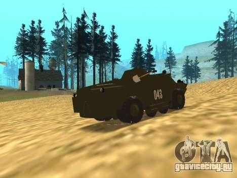 Гвардейская БРДМ-2 для GTA San Andreas вид сзади слева
