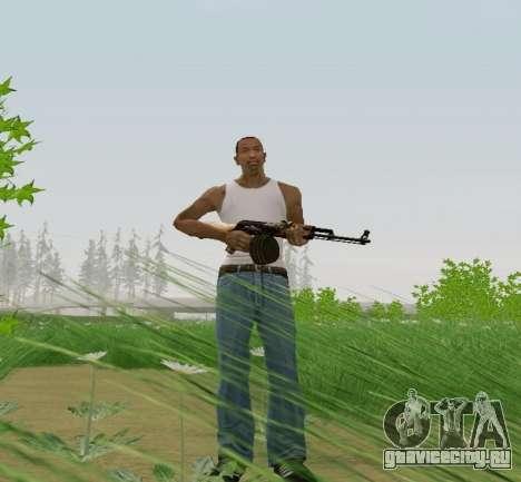 Ручной Пулемет Калашникова для GTA San Andreas третий скриншот