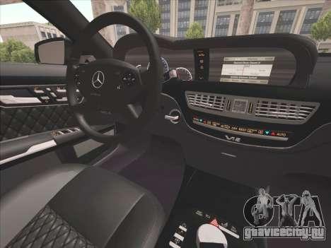 Mercedes-Benz S65 AMG 2012 для GTA San Andreas вид изнутри