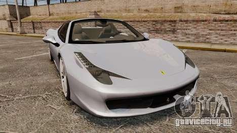 Ferrari 458 Spider для GTA 4
