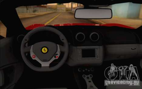 Ferrari California v2 для GTA San Andreas вид сзади