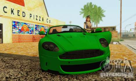 Aston Martin DBS Volante для GTA San Andreas вид сзади