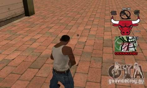 C-HUD Chicago Bulls для GTA San Andreas второй скриншот