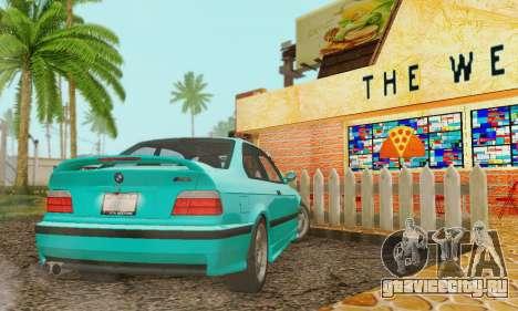 BMW E36 M3 1997 Stock для GTA San Andreas вид изнутри